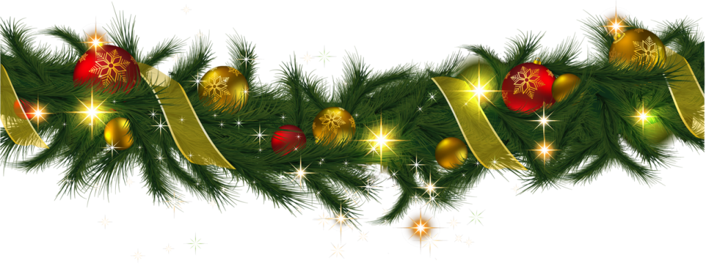 transparent-christmas-pine-garland-with-lights-clipart-0